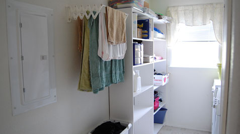 Laundry Room After Organization